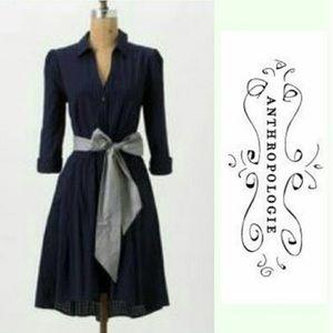 Moulinette Soeurs Navy Dakota Dress Lavender Trim